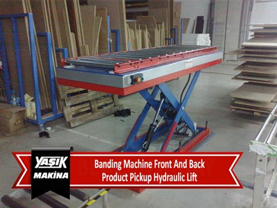 Banding Machine Front And Back Product Pick Up Hydraulic Lift