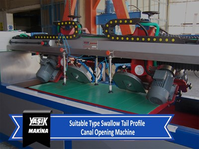 Suitable Type Swallow Tail Profile Canal Opening Machine