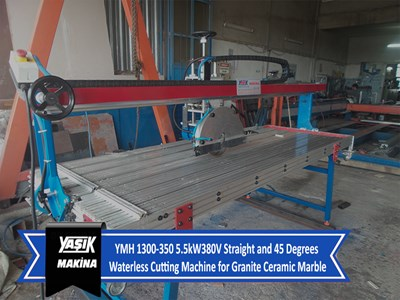 YMH 1300-350 5.5kW380V Straight and 45 Degrees Waterless Cutting Machine for Granite Ceramic Marble